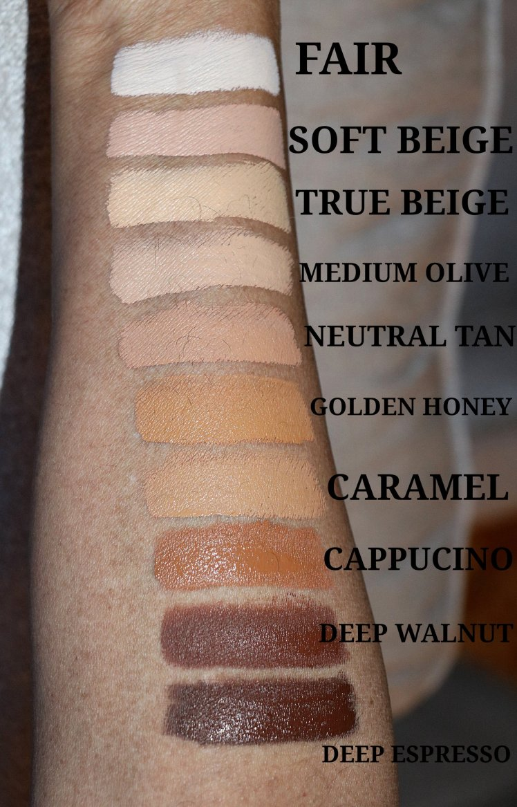 nyx cosmetics cant stop wont stop concealer swatch